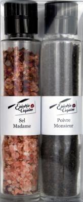 COFFRET 2 MOULINS «SEL MADAME» & «POIVRE MONSIEUR»