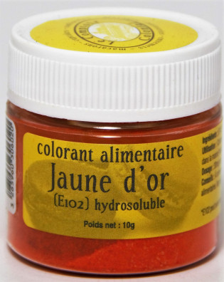 COLORANT ALIMENTAIRE JAUNE D'OR (E102) HYDROSOLUBLE