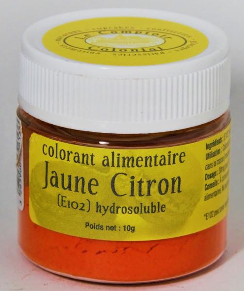 COLORANT ALIMENTAIRE JAUNE CITRON (E102) HYDROSOLUBLE