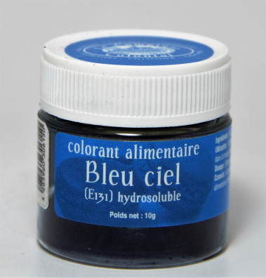 COLORANT ALIMENTAIRE BLEU CIEL (E131) HYDROSOLUBLE