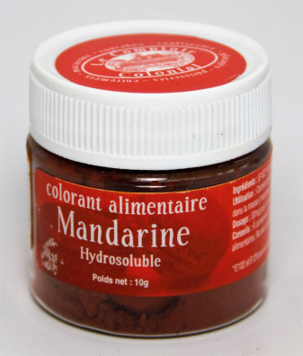 COLORANT ALIMENTAIRE MANDARINE HYDROSOLUBLE