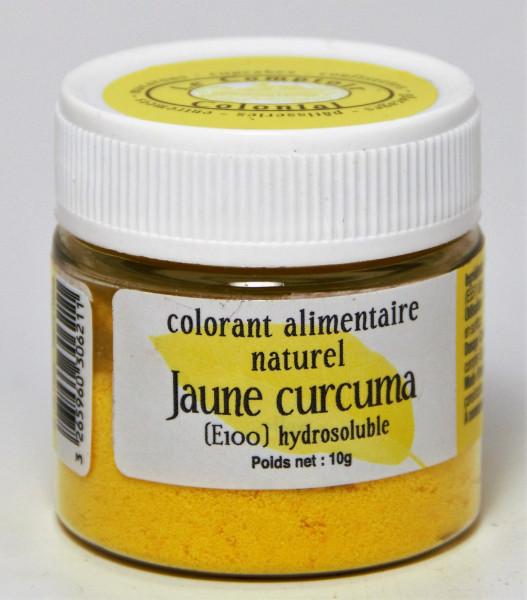 COLORANT ALIMENTAIRE NATUREL JAUNE CURCUMA (E100) HYDROSOLUBLE