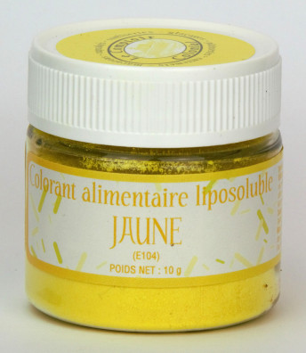 COLORANT ALIMENTAIRE LIPOSOLUBLE JAUNE (E104)