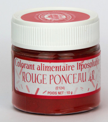 COLORANT ALIMENTAIRE LIPOSOLUBLE ROUGE PONCEAU 4R E124