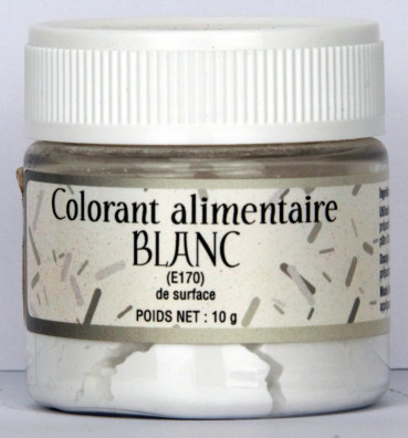 COLORANT ALIMENTAIRE BLANC (E170) DE SURFACE
