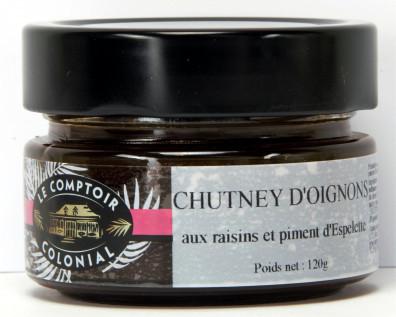 CHUTNEY D'OIGNONS AUX RAISINS ET PIMENT D'ESPELETTE