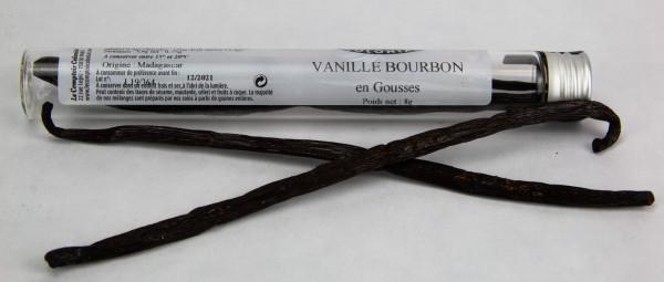 VANILLE BOURBON (Vanilla planifolia) EN TUBE 2 GOUSSES