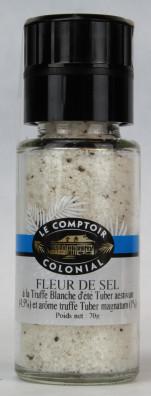 FLEUR DE SEL A LA TRUFFE blanche d'été Tuber aestivum (4,5%) et arôme truffe Tuber magnatum (1,5%)